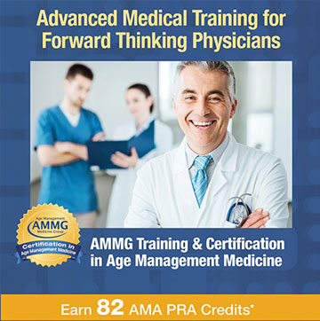 AMMG provides Age Management Medicine certification and training for physicians and healthcare professionals + CME credits.